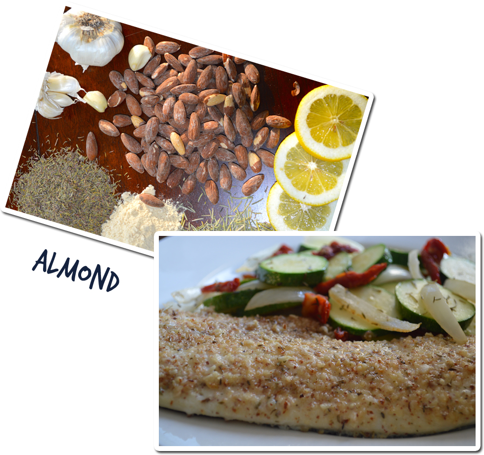 Nuts Over Fish Almond Topping